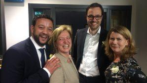 Mahjoub, Lia, Jacco en Charlotte