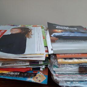 Huizen zonder Nee-Nee- of Nee-Ja-sticker krijgen gemiddeld 30 folders per week in hun brievenbus, zo'n 5 kilo reclamedrukwerk per 2 maanden.