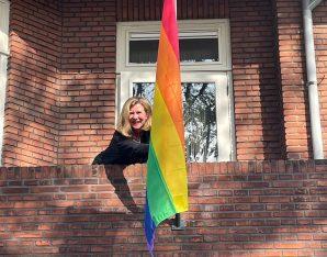 De regenboogvlag voor de lhbti+-gemeenschap